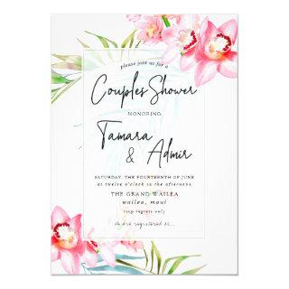 PixDezines Orchid Isle, Tropical Couples Shower Invitations