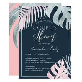 PixDezines Palms+Platinum Couples Shower Invitation