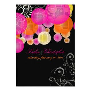 PixDezines pink+orange lanterns Invitations