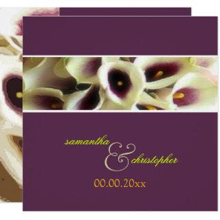 PixDezines purple calla lilies/diy color Invitation