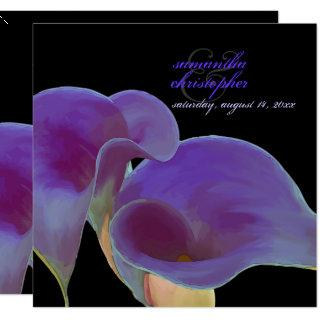 PixDezines purple calla lilies/diy Invitation