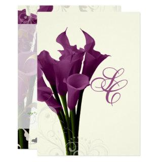PixDezines purple calla lilies/diy Invitations