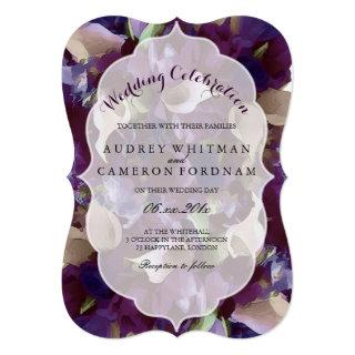 PixDezines purple tulips/calla lily Invitations