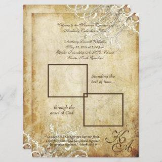 PixDezines vintage cream swirls Invitations