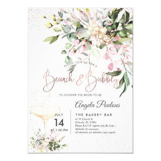 PixDezines Watercolor Pink Gum Brunch Bubbly Invitations
