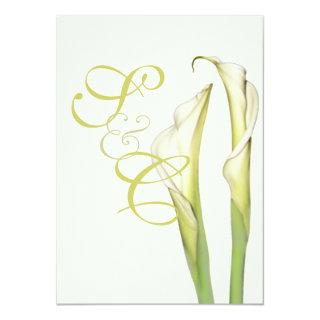 PixDezines white calla lilies/diy background Invitation