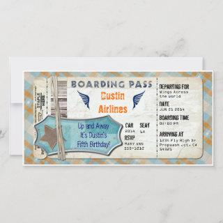 Planes Party Boarding Pass