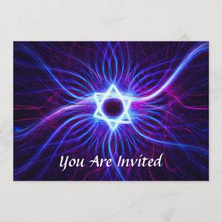 Plasma Magen Bar/Bat Mitzvah Invitations