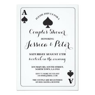 Playing Card Ace or King Queen Las Vegas Invite