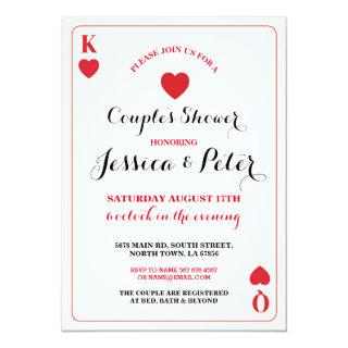 Playing Card Couples King Queen Las Vegas Invite