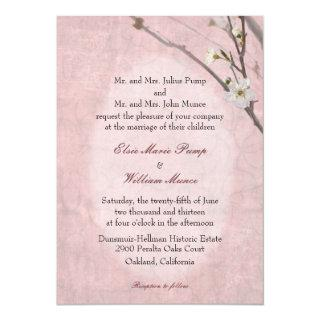 Plum Blossom Spring Wedding Invitation