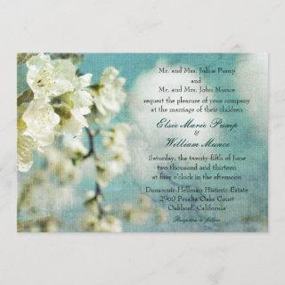 """""""Plum blossoms and puffy clouds"""" Wedding Invite"""
