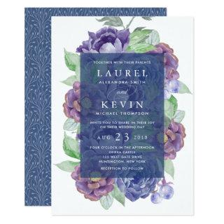 Plum Garden Wedding Invitation