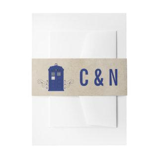 Police Box Wedding Belly Bands v6 Invitations Belly Band