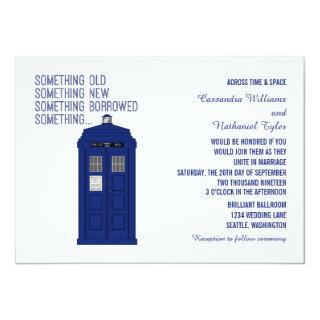 Police Box Wedding Invite v1