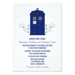 Police Box Wedding Invite v3