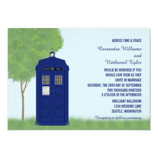 Police Box Wedding Invite v4