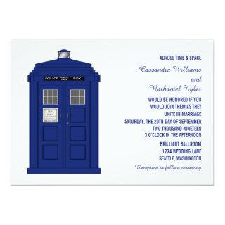 Police Box Wedding Invite v5