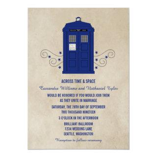 Police Box Wedding Invite v6