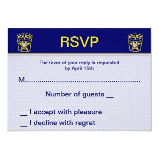 Policeman Wedding RSVP Cards