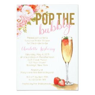 Pop The Bubbly Floral Bridal Shower Invitations