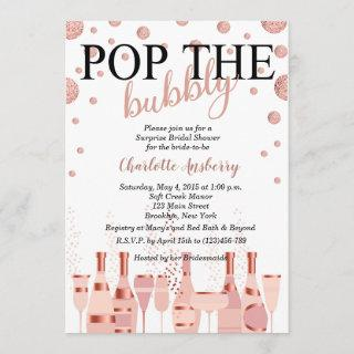 Pop the Bubbly Rose Gold Bridal Shower