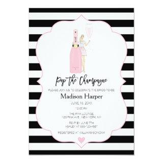 Pop the Champagne Bridal Shower Invitations