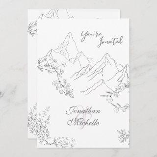 Pretty Mountains, Flowers and Branches Wedding