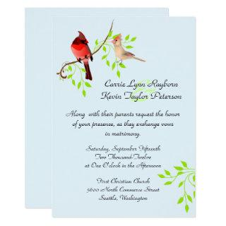 Pretty Red Cardinals Wedding Invitation