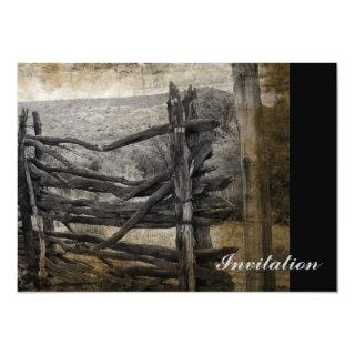 Primitive rural west country Rustic Farm Fence Invitations