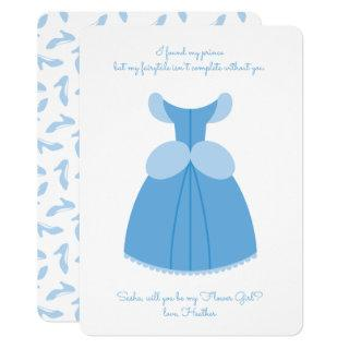 Princess Cinderella | Will You Be My Flower Girl Invitations
