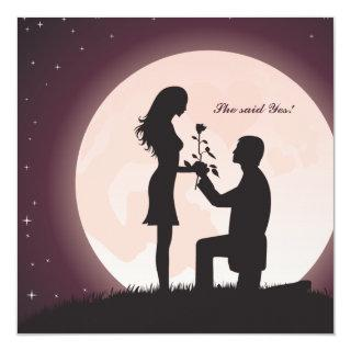 Proposal by Moonlight Engagement Invitations
