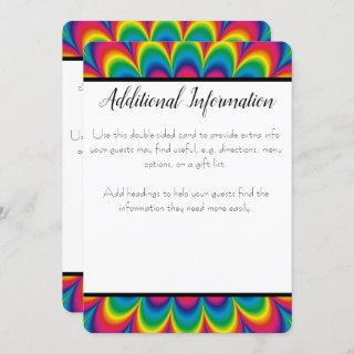Psychedelic Tie Dye Additional Info Card