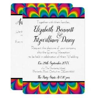 Psychedelic Tie Dye Evening Invitations
