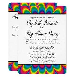 Psychedelic Tie Dye Wedding Invitation
