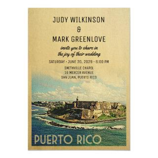 Puerto Rico Wedding Invitation Vintage Mid-Century