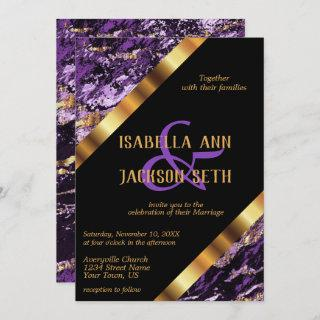Purple and Gold Marble