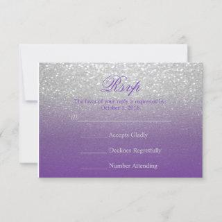 Purple and Silver Glitter - RSVP