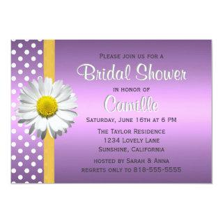 Purple and Yellow Daisy Bridal Shower Invitations