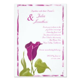 Purple Calla Lilies Wedding Invitations