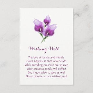 Purple Calla Lily Wedding Wishing Well Cards