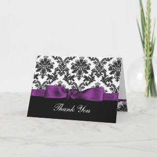 purple damask ThankYou Cards