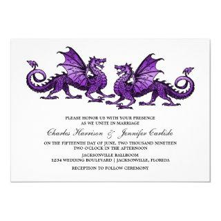 Purple Elegant Dragon Wedding Invite
