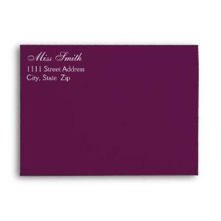 Purple Envelope For 5X7 Invitation