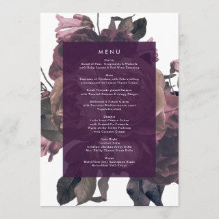 Purple Fantasy Wedding Menu