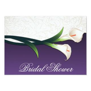 Purple White Calla Lily Bridal Shower Invitations