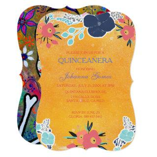 QUINCEAÑERA Invitations ROCKABILLY DAY OF THE DEAD