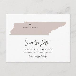 QUINN- Tennessee Map Save the Date Moveable Heart Postcard