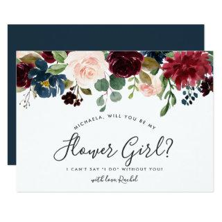 Radiant Bloom Be My Flower Girl Card