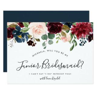 Radiant Bloom Be My Junior Bridesmaid Card